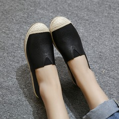 Women's PU Flat Heel Flats Closed Toe With Elastic Band shoes