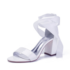 Women's Patent Leather Sandals With Bowknot Lace-up