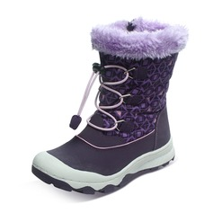 Girl's Unisex Fabric Microfiber Leather Flat Heel Round Toe Closed Toe Snow Boots Boots With Animal Print Lace-up Zipper