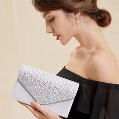 Elegant/Unique Satin/Crystal/ Rhinestone Clutches (012250931)