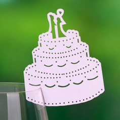 Wedding Cake Pearl Paper Place Cards