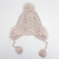 Ladies' Lovely/Elegant Cotton/Cony Hair Beanie/Slouchy