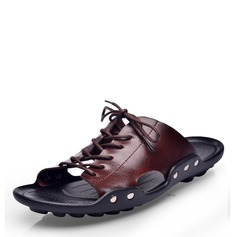 Men's Patent Leather Casual Men's Slippers (263171692)