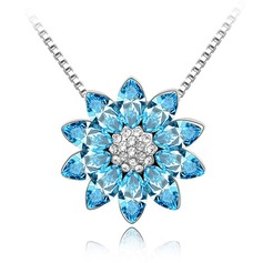 Snowflakes Shaped Alloy With Crystal Ladies' Necklaces
