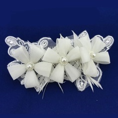 Gorgeous Imitation Pearls/Lace/Chiffon Combs & Barrettes With Venetian Pearl (Sold in single piece)