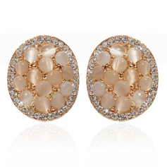 Pretty Alloy/Crystal Ladies' Earrings