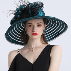 Ladies' Hottest/Romantic Polyester With Silk Flower Beach/Sun Hats/Tea Party Hats (196233909)