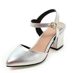 Femmes Similicuir Talon bottier Escarpins Bout fermé Escarpins Mary Jane avec Boucle chaussures
