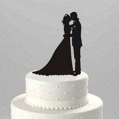 "Figurine ""Sweet Hug"" Acrylic Wedding Cake Topper/Bridal Shower Cake Topper"