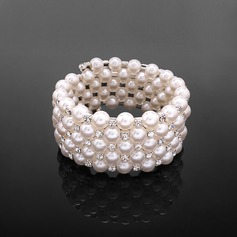 Gorgeous Pearl With Rhinestone Ladies' Bracelets