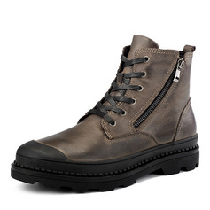 Men's Real Leather Lace-up Chukka Casual Men's Boots (261216570)