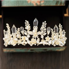 Ladies Elegant Crystal/Rhinestone/Alloy Tiaras With Venetian Pearl
