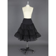 Women Polyester/Lycra Knee-length 2 Tiers Petticoats