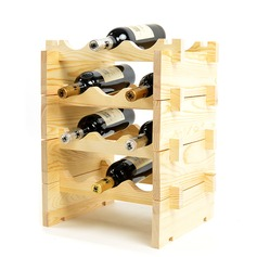 Classic Wood Bottle Holder / Wine Rack  (052095644)