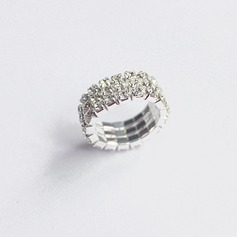 Beautiful Alloy Rhinestones Women's Fashion Rings (Sold in a single piece)