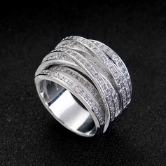 Chic Zircon Ladies' Fashion Rings