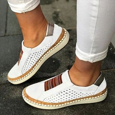 Women's PU Flat Heel Flats Closed Toe With Split Joint shoes (086206269)