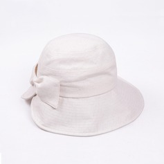 Ladies' Simple Cotton With Bowknot Bowler/Cloche Hat