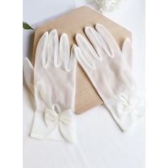 Tulle Wrist Length Bridal Gloves (014203342)