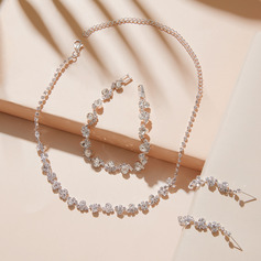 Ladies' Elegant Alloy/Rhinestones Jewelry Sets (011253772)