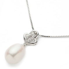 "Charming Sterling Silver/""AAA"" Pearl Ladies' Necklaces"