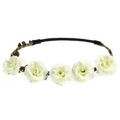 Rose Hide Rope Headdress Flower -