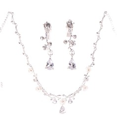 Vintage Alloy/Rhinestones/Imitation Pearls With Rhinestone/Imitation Pearls Ladies' Jewelry Sets