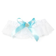 Attractive Organza With Rhinestone Wedding Garters