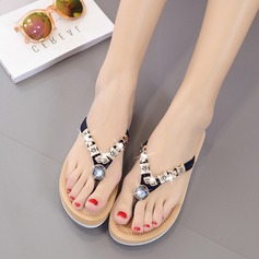 Women's Suede Wedge Heel Sandals Slippers With Rhinestone shoes