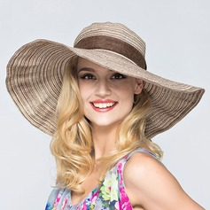 Ladies' Beautiful Polyester With Bowknot Floppy Hat