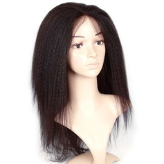 Kinky Straight Synthetic Hair Lace Front Wigs 300g