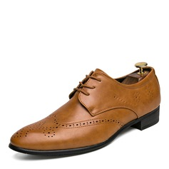 Men's Microfiber Leather Lace-up Brogue Dress Shoes Men's Oxfords