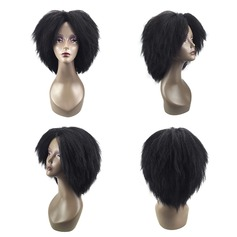 Kinky Curly Synthetic Hair Capless Wigs 150g