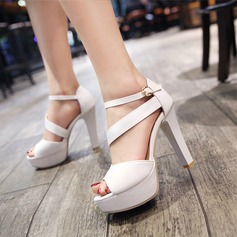 Women's Leatherette Stiletto Heel Sandals Pumps Platform Peep Toe With Others shoes