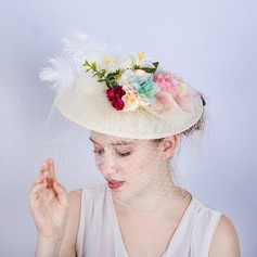 Ladies' Gorgeous/Fashion/Glamourous Cambric With Feather Fascinators/Tea Party Hats