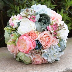 Round Satin/PE Bridal Bouquets (Sold in a single piece) - (123138137)