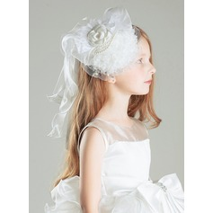 Organza With Imitation Pearls/Flower Fascinators