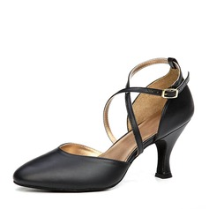 fde4c99eff1d Women s Real Leather Heels Ballroom Dance Shoes
