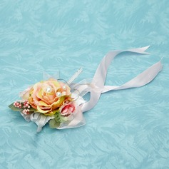 Blooming Free-Form Satin Wrist Corsage