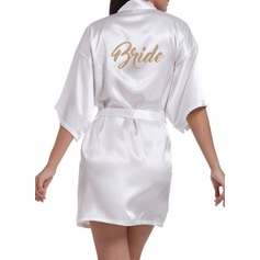 Personalized Bride Bridesmaid Satin With Short Satin Robes (248151593)