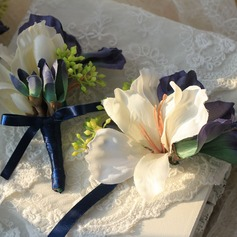 Lovely Cloth/Ribbon Wrist Corsage/Boutonniere