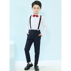 Boys 4 Pieces Classic Ring Bearer Suits /Page Boy Suits With Shirt Pants Bow Tie Suspender (287203040)