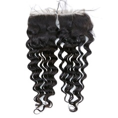 "4""*4"" 5A Virgin/remy Deep Human Hair Closure (Sold in a single piece) 35g"