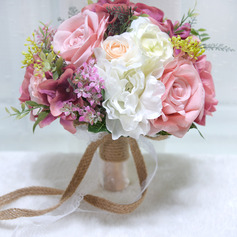 Gorgeous Round Artificial Flower Bridal Bouquets (Sold in a single piece) -