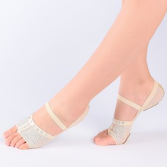 Women's Fabric Modern Belly With Rhinestone Dance Shoes