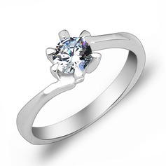 Elegant Zircon/Platinum Plated Ladies' Rings