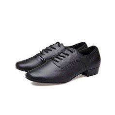 Men's Real Leather Pumps Latin With Lace-up Dance Shoes