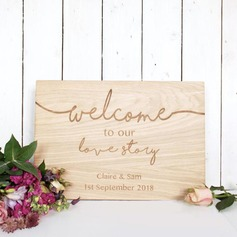 Classic Elegant Wooden Wedding Sign