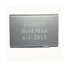 Personalized Cool Metal Card Case