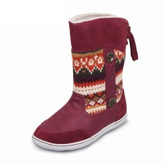 Girl's Leatherette Flat Heel Round Toe Closed Toe Snow Boots Boots With Lace-up Button